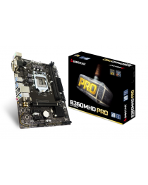 Материнская плата Biostar B360MHD PRO, Intel B360, LGA 1151, DDR4