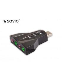 Звуковая карта (x) SAVIO Sound card 7.1 AK-08 SAVAK-08