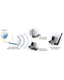 Беспроводной адаптер Edimax с высоким коэффициентом усиления USB 2.0, 802.11n 300 Мбит / с, антенна 3 дБи, WPS (EW-7612UAn V2)