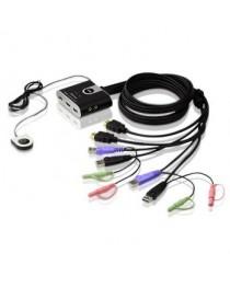 KVM-переключатель ATEN CS692 2-портовый USB HDMI, аудио 2.1, дистанционный селектор портов (1,8 м) (CS692-AT)