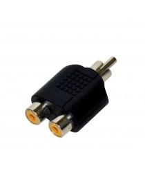Адаптер Vakoss RCA M -> 2x RCA F TC-A112K, черный, блистер (C-A112K)