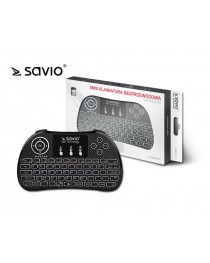 Беспроводная клавиатура SAVIO KW-01  Android TV Box, Smart TV, PS3, XBOX360, PC (KW-01)