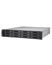 Сетевое ханилище QNAP TurboNAS с 12 отсеками, SATA 6G, 3.4G Quad Core, 4G DDRIII RAM, 4x GbE LAN, Wo Rail TS-EC1280U-E3-4GE-R2