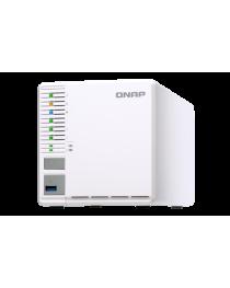 Сетевое хранилизе QNAP 3-Bay TurboNAS, Intel Celeron 2C 2,41 GHz, 4GB RAM, 1x1GbE, 1xUSB 3.0 (TS-351-4G)