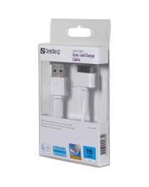 USB 30-контактный кабель Sandberg плоский 0,15 м 440-85