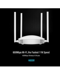 Wi-Fi маршрутизатор TOTOLINK 600 Мбит / с 2,4 ГГц 802.11b / g / n Hi-Power, 4x5 дБи мурав. (N600R)