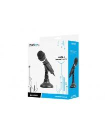 Микрофон Natec Adder черный мини-разъем 3,5 мм с низким уровнем шума, всенаправленный микрофон NMI-0776