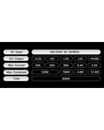 Блок питания для корпусов PSU ATX Tacens RADIX VII 800W 80 PLUS SILVER (TAC800RVIISILVER)