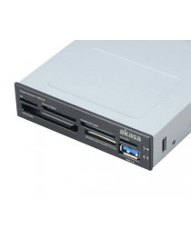 Кардридер Akasa 3.5'' 6-slot multi card reader AK-ICR-14, USB 3.0 (AK-ICR-14)