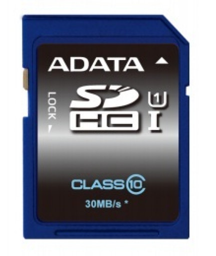 Карта памяти Adata SDHC UHS1 16GB, 30MBs (ASDH16GUICL10-R)
