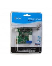 i-tec PCIe Card USB 3.0 SuperSpeed 2x Внешний + 1x Внутренний 20pin (PCE22U3)