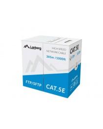 Lanberg FTP многожильный кабель CCA, кат. 5е, 305м, серый (LCF5-11CC-0305-S)