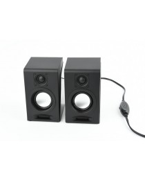 Колонки Gembird Desktop Multimedia Stereo Speakers set 2.0 ''Breeze'', RMS 6W, black
