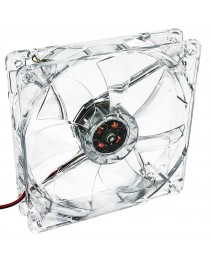 Вентилятор Akyga System 12 см LED красный AW-12A-BR Molex 120x120 мм AW-12A-BR