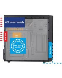 Корпус Akyga Micro ATX Case AK17BK 2x USB 3.0 w/o PSU AK17BK