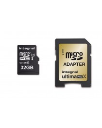 Карта памяти Integral UltimaProX Gold microSDHC/XC 32GB Read/Write (95/60MB/s) (INMSDH32G10-95/60U1)