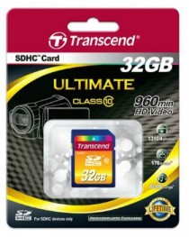 Карта памяти Transcend SDHC 32GB CL10 (TS32GSDHC10)
