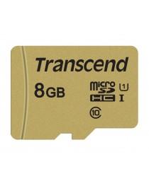 Карта памяти Transcend microSDHC USD500S 8GB CL10 UHS-I U1 до 95MB/S + adapter (TS8GUSD500S)