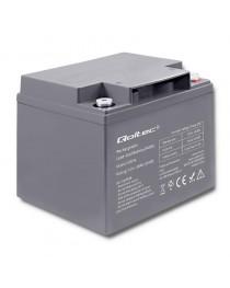 Аккумулятор AGM Qoltec | 12 В | 38Ач | max.11.4A 53034